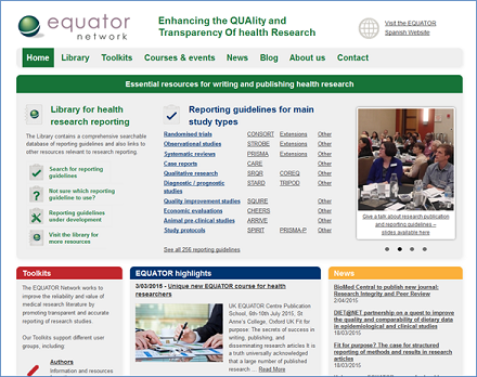 Equator homepage