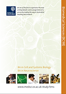 Biomedical Sciences course brochure cover