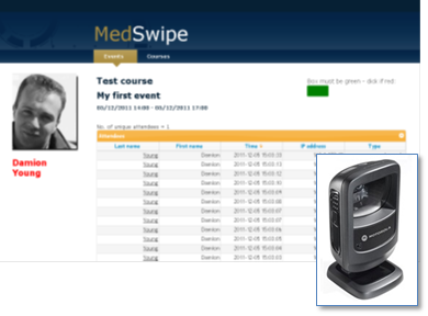 Screen shot of MedSwipe